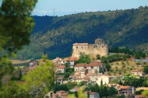 Vue du village de Gréoux-les-Bains