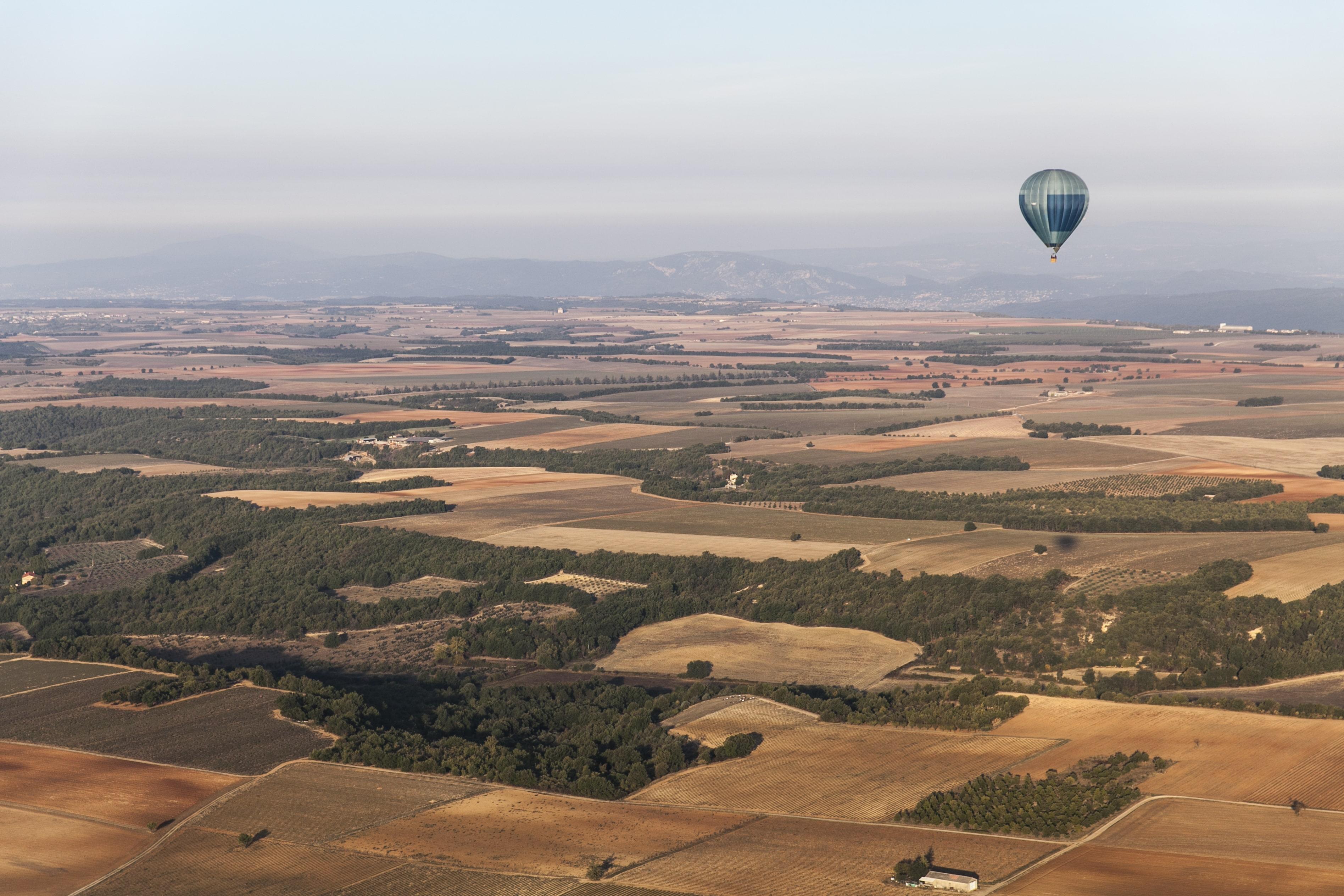 depuis l'autogire, montgolfière